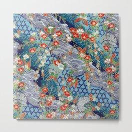 Japanese River Pattern. Metal Print