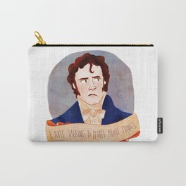 Mr. Darcy / I HATE TALKING TO PEOPLE ABOUT THINGS Carry-All Pouch