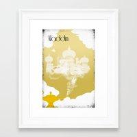 aladdin Framed Art Prints featuring Aladdin by Nicholas Hyde