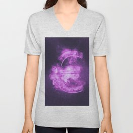 Euro sign, Euro Symbol. Monetary currency symbol. Abstract night sky background. Unisex V-Neck