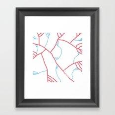 veins & arteries Framed Art Print