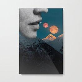 Eating Cosmos Metal Print