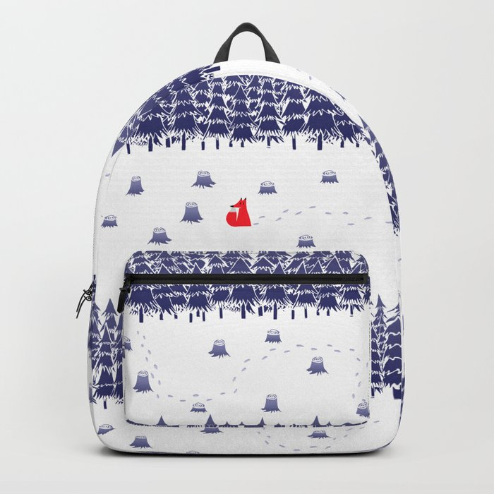 Winter foxes Backpack