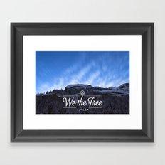 Mountain Sky Wethefree Framed Art Print
