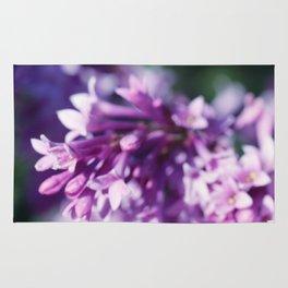 Lilacs close up Rug