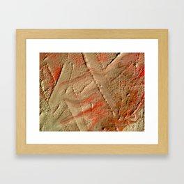 Fault Lines Framed Art Print
