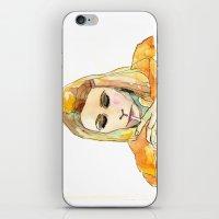 tenenbaum iPhone & iPod Skins featuring Margot Tenenbaum by Tessa Heck
