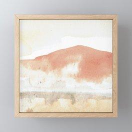 Terra Cotta Hills Abstract Landsape Framed Mini Art Print