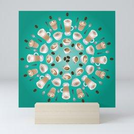 Coffee Kaleidoscope Mini Art Print