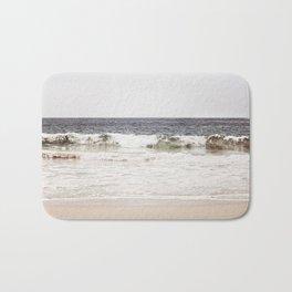 Neutral Ocean Landscape Photography, Grey Seascape Art, Gray Sea Beach Photo, Coastal Print Bath Mat