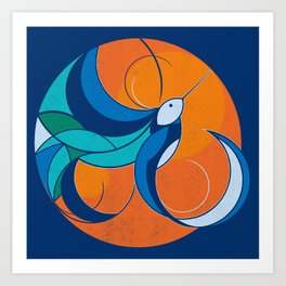 One with the sun Art Print