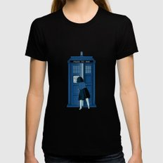 A Magical Box [Doctor Who, Narnia] Womens Fitted Tee Black MEDIUM