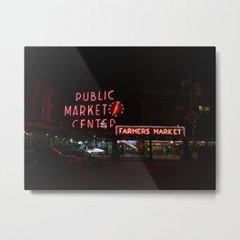 The Market Metal Print
