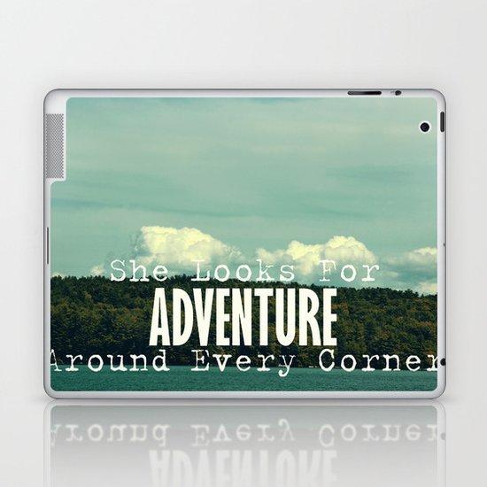 She Looks for Adventure  Laptop & iPad Skin