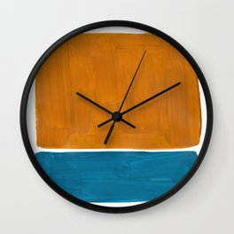 Minimalist Mid Century Modern Colorful Color Field Rothko Wall Clock
