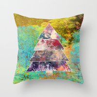 xmas Throw Pillows featuring Xmas by Aniko Gajdocsi