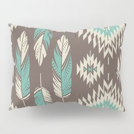 Native Roots - Turquoise & Brown Pillow Sham