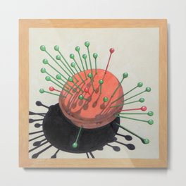 pincushion n. 2 (ORIGINAL SOLD). Metal Print