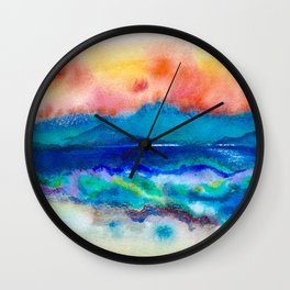 Sunset over Arran Wall Clock