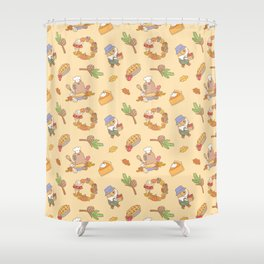 Bubu the Guinea pig, Fall and Pie Shower Curtain