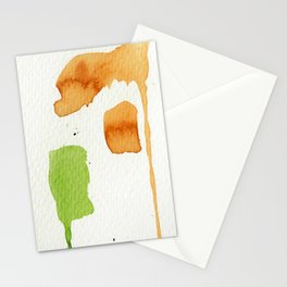 Orange and Green Abstract Art Stationery Cards