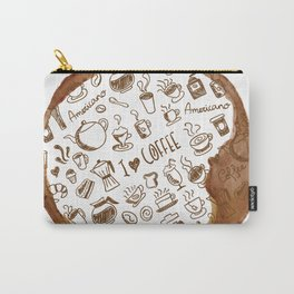 Inside an imprint of Coffee - I love Coffee Carry-All Pouch