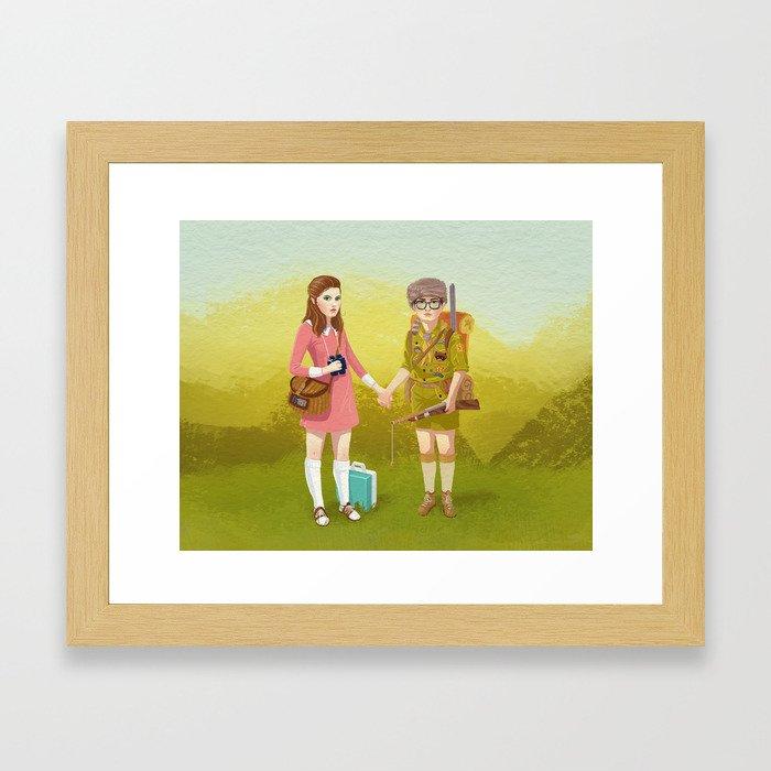 Moonrise Kingdom (Landscape edition) Framed Art Print