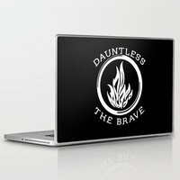 divergent Laptop & iPad Skins featuring Divergent -  Dauntless The Brave by Lunil