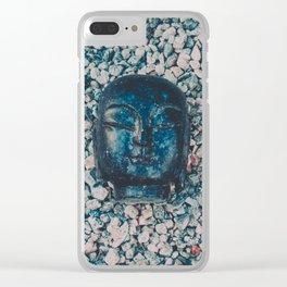 buddha head Clear iPhone Case