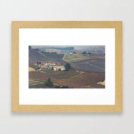 The medieval village of Barolo Framed Art Print