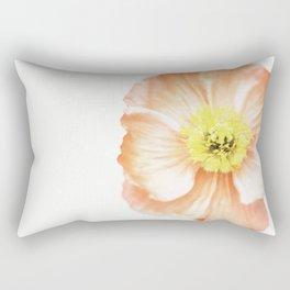 Pink Poppy No. 3 | Flower Photograph Rectangular Pillow