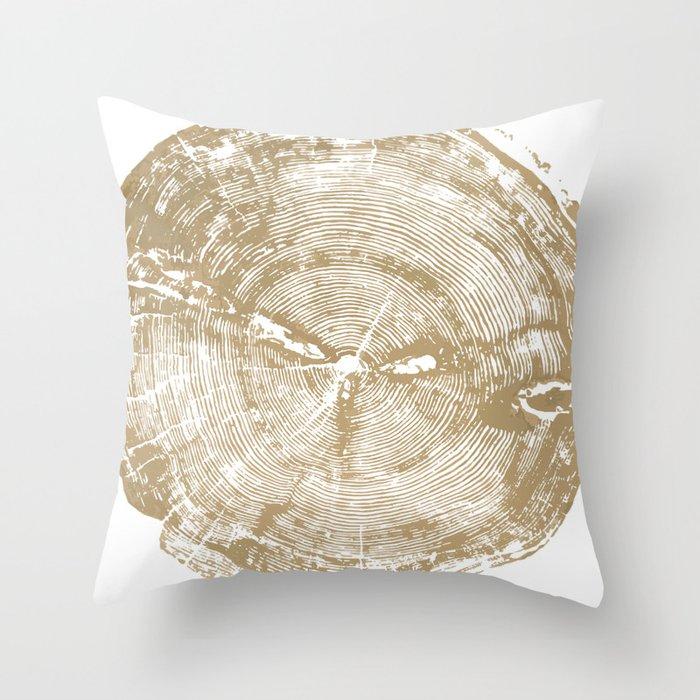 Sundance Pine Tree Ring Print Throw Pillow By Lintonart