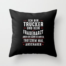 Funny Truck Driver Logistics Highway Truck Gift Throw Pillow