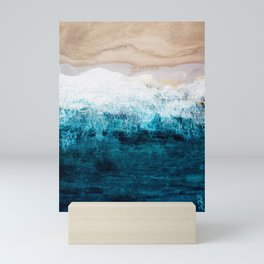 Watercolour Summer beach III Mini Art Print