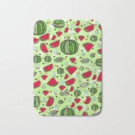 Melon popart by Nico Bielow Bath Mat