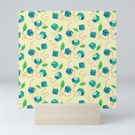 Tropical Twist Polyhedral Dice Pattern Mini Art Print