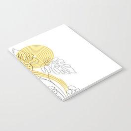 Monstera line Art Notebook