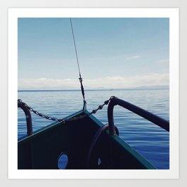 Taupo boat trip Art Print