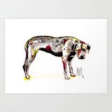 The sadness of streetdogs Art Print