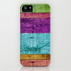 Colorful Wood  Slim Case iPhone (5, 5s)