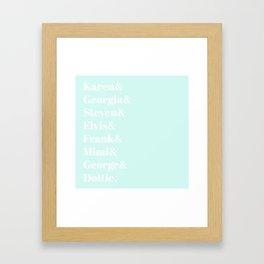 MFM Fam Framed Art Print