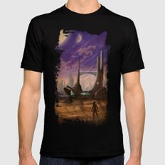 Lost Outpost MEDIUM Black Mens Fitted Tee