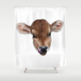 Milky Moo Shower Curtain