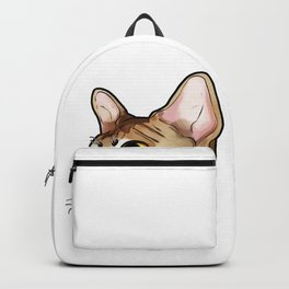 Devon Rex Cat Cats Kitty Love Sweet Cute Face Backpack