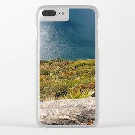 Up High Lake Waikaremoana NZ Clear iPhone Case