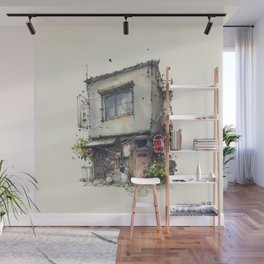 House in the town of Tateishi, Tokyo, Japan Wall Mural