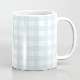 Baby blue gingham pattern Coffee Mug