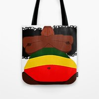 rasta Tote Bags featuring Rasta Beauty by Courtney Ladybug Johnson
