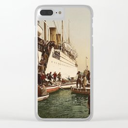 Boarding the Ship - vintage photograph Clear iPhone Case