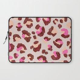 Leopard Print – Pink & Mauve Palette Laptop Sleeve
